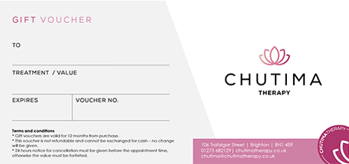 Chutima Therapy Brighton gift voucher